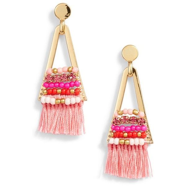 Goe Tassel Chandeliers With Beading in Pink Rebecca Minkoff Cheap Sale Original Shop Sale Online Buy Cheap Latest Cheap Sale Sast With Mastercard Cheap Online eXEDJd4CP