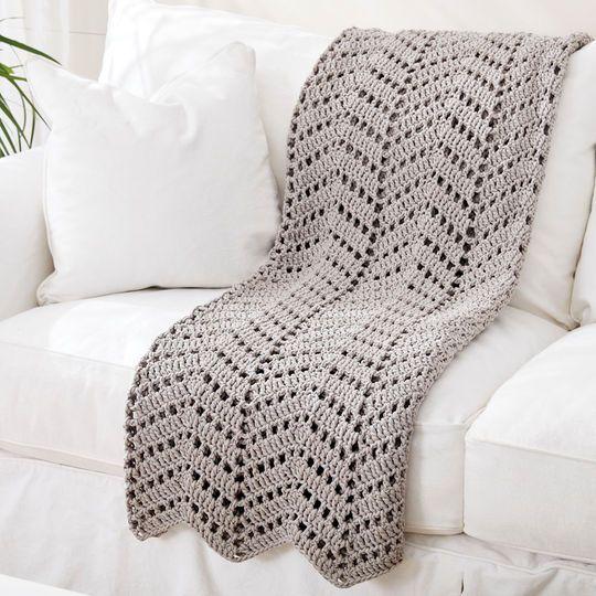 Bernat® Maker Home Dec™ Ripples in the Sand Crochet Afghan | Manta ...
