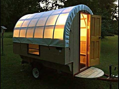 The Tardis Bowtop Camper Sheep Camp Tiny House CaravanTHIS