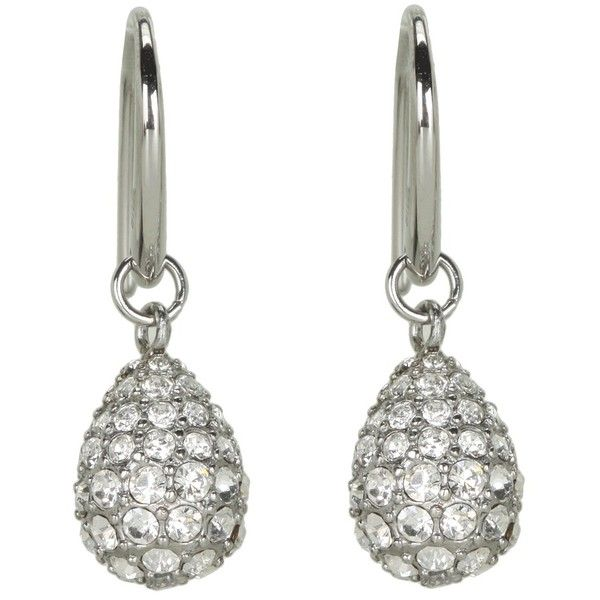 Fossil Vintage Glitz Pave Tear Drop Earrings ($48) ❤ liked on Polyvore