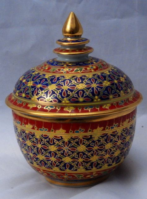 Bencharong Porcelain Jar 5 Quot With Lid From Thailand Solas