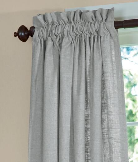 Soft Linen Lined Rod Pocket Curtains ... - Soft Linen Lined Rod Pocket Curtains - Country Curtains® Home