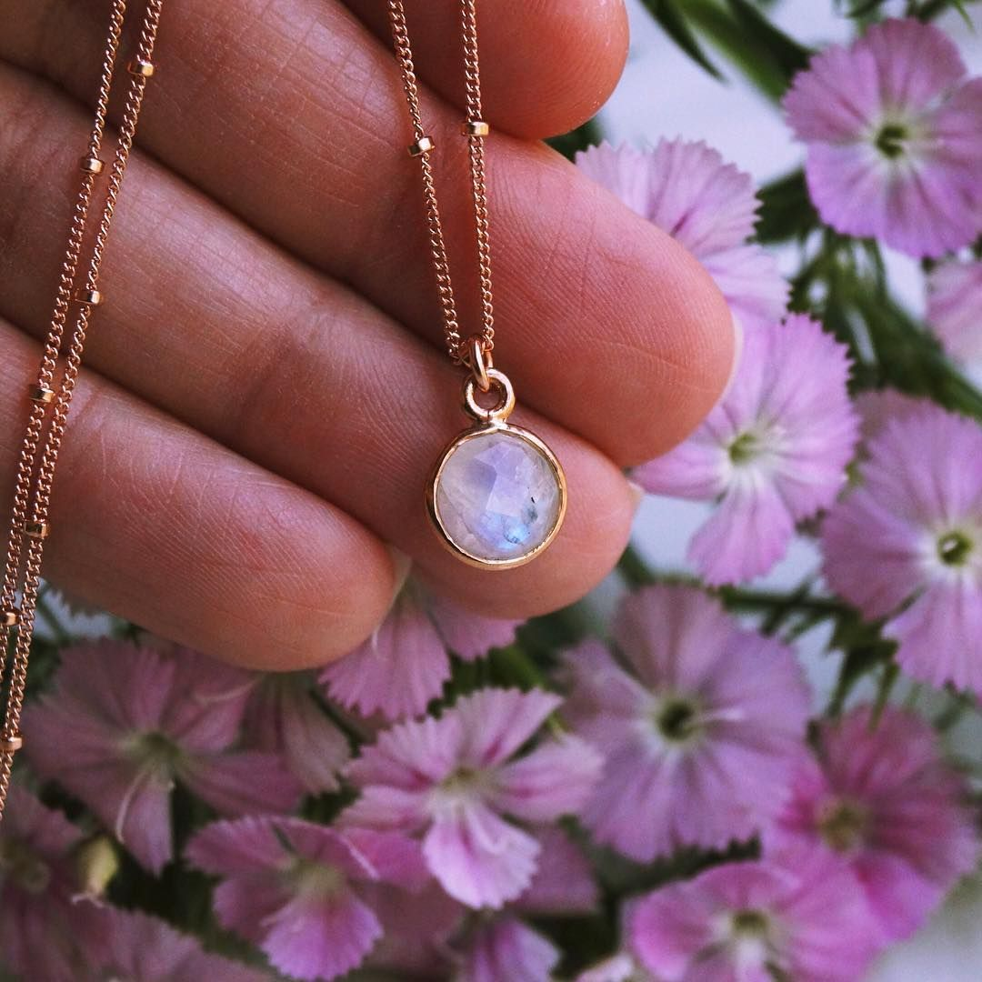 Photo of Tiny Moonstone Necklace
