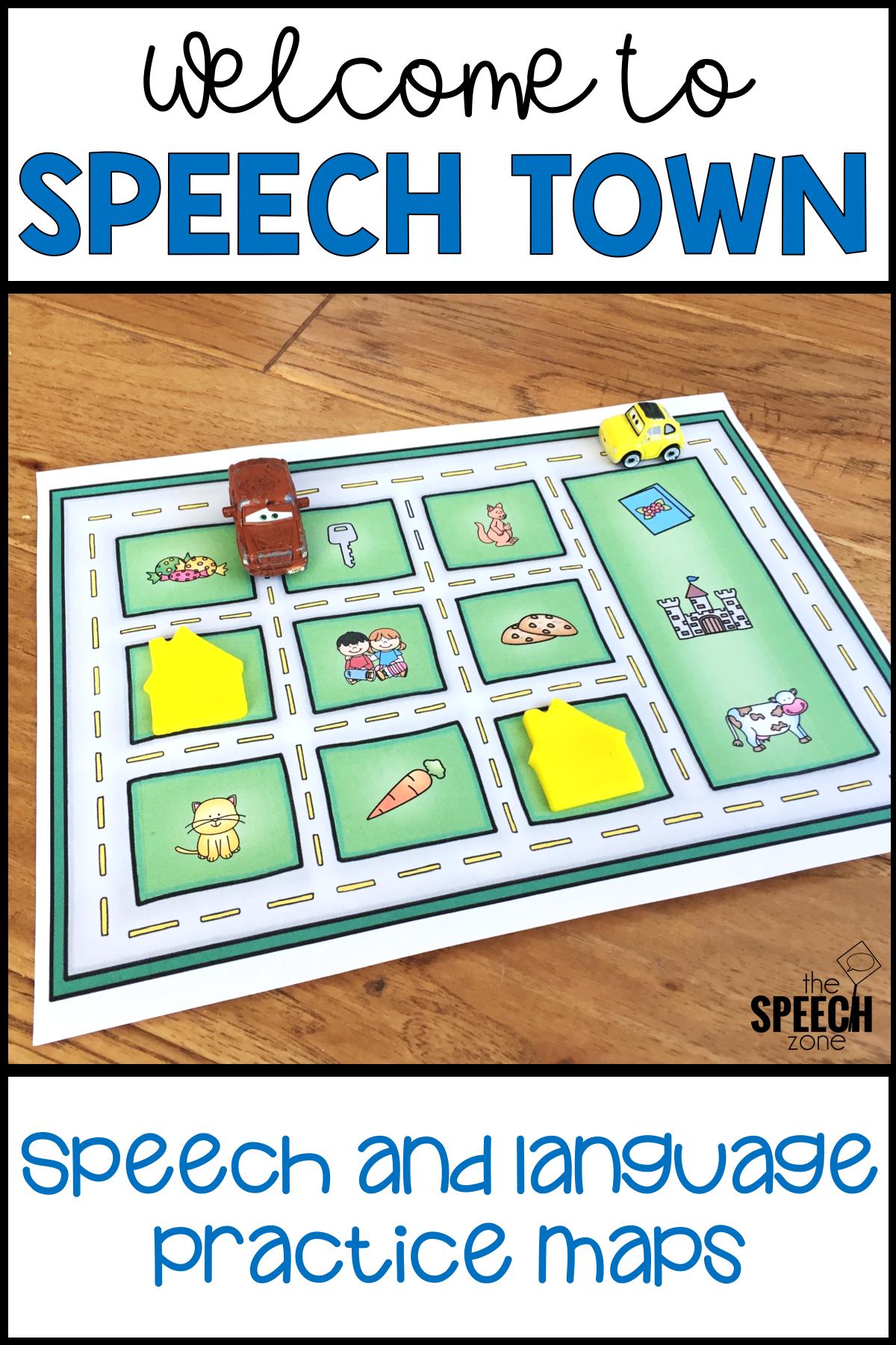Speech Town Speech And Language Worksheets