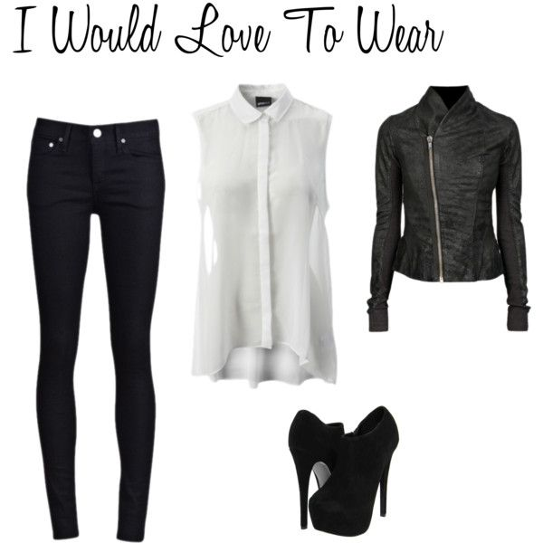 A fashion look from May 2012 featuring long sleeve jacket, thvm jeans and side zip boots. Browse and shop related looks.