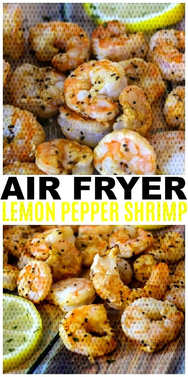 Air Fryer Lemon Pepper Shrimp are easy, healthy and delicious. This is also a Weight Watchers frien