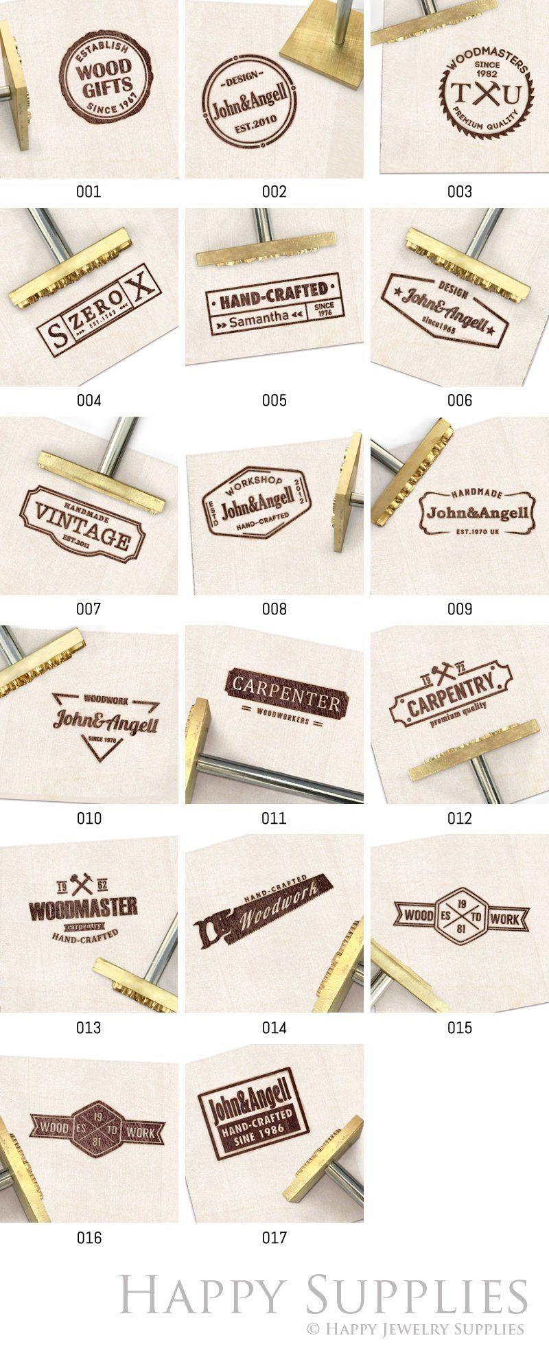 Custom Brand Iron Wood Brand Iron Custom Leather Stamp Custom Metal Stamp Heat Emboss Stamp Custom Wood Brand Iron For Wood Meat Food Custom Branding Iron Leather Stamps Wood Branding Iron