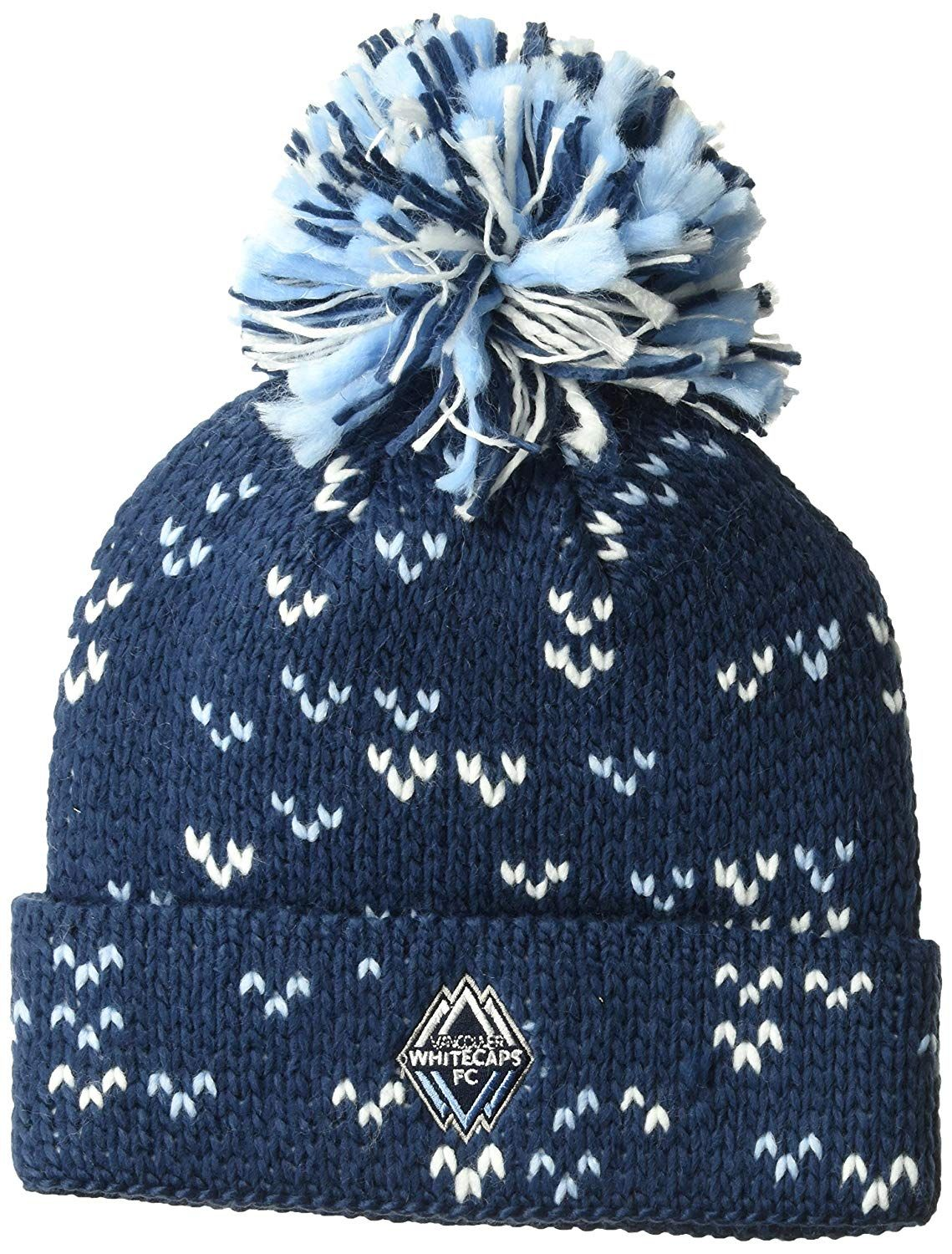 967c0631614 adidas MLS Vancouver Whitecaps Women s Fan Wear Cuffed Pom Knit Beanie