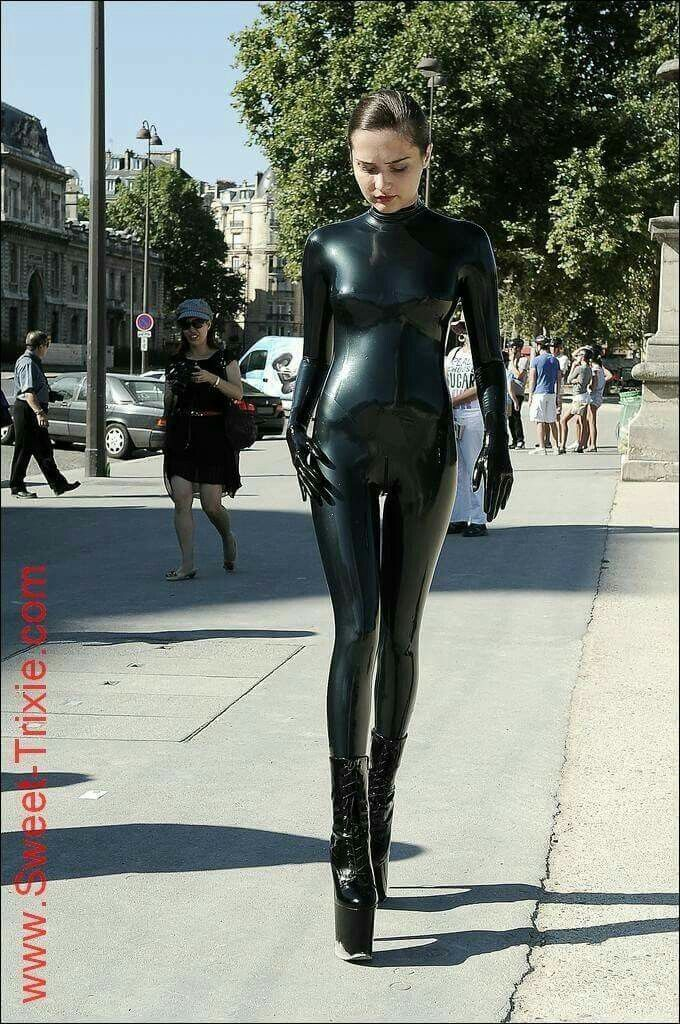 Sweet Trixie Latex Girls Sexy Latex Catsuit Girls