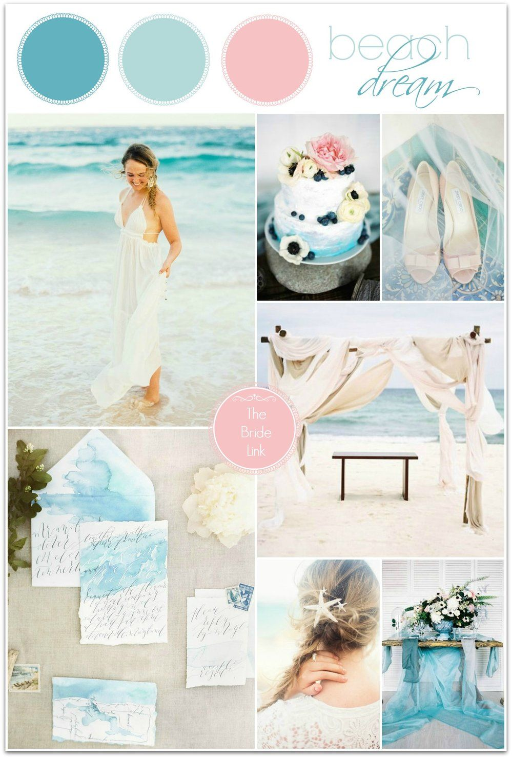 Beach wedding idea  Beach Wedding Ideas  Wedding Themes  Pinterest  Beach weddings