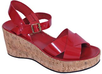 Kork-Ease - Ava ll - Red Patent Leather Cork Wedge at ...