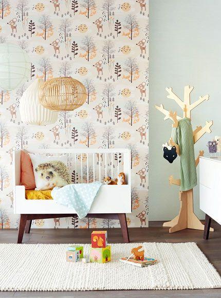 Behang kinderkamer inspiratie babykamer slaapkamer interieur woonkamer inrichten ideeen wand for Decoratie interieur woonkamer