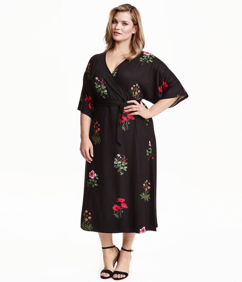 Hm wrapfront dress product detail hm fashion