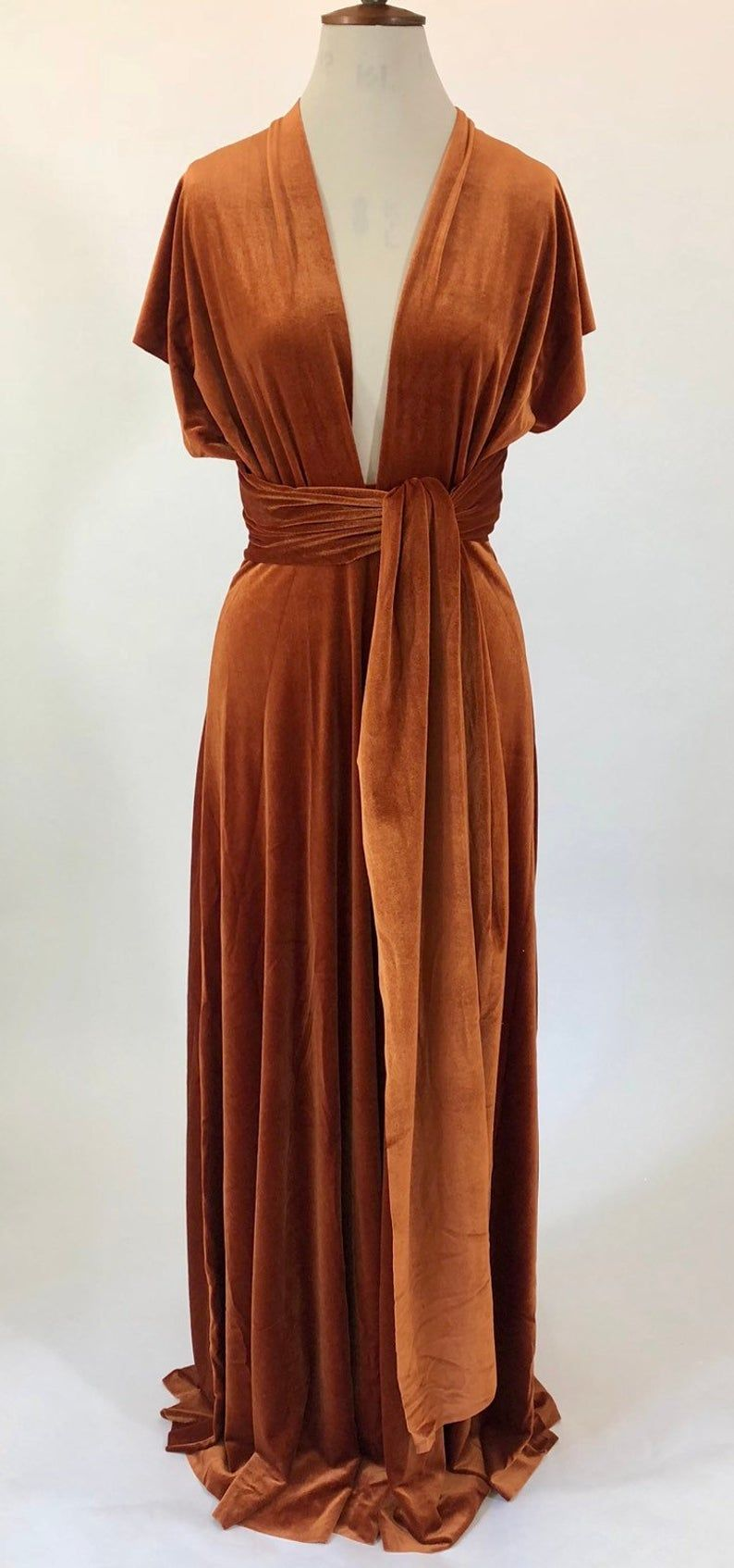Copper bridesmaid dress rust multiway dress infinity dress  Etsy