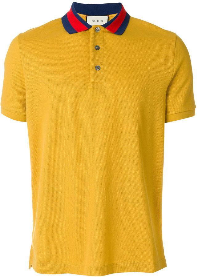 Gucci polo shirt with wolf appliqué   Tshirts   Gucci polo shirt ... a3fc9f5e2b