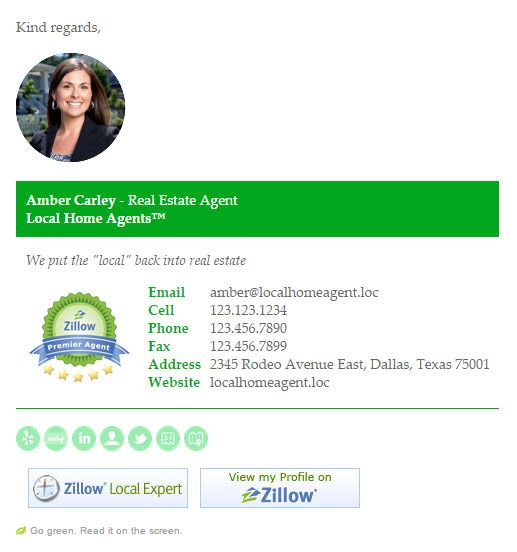 Essentially, an email signature is like a digital business card - business email template
