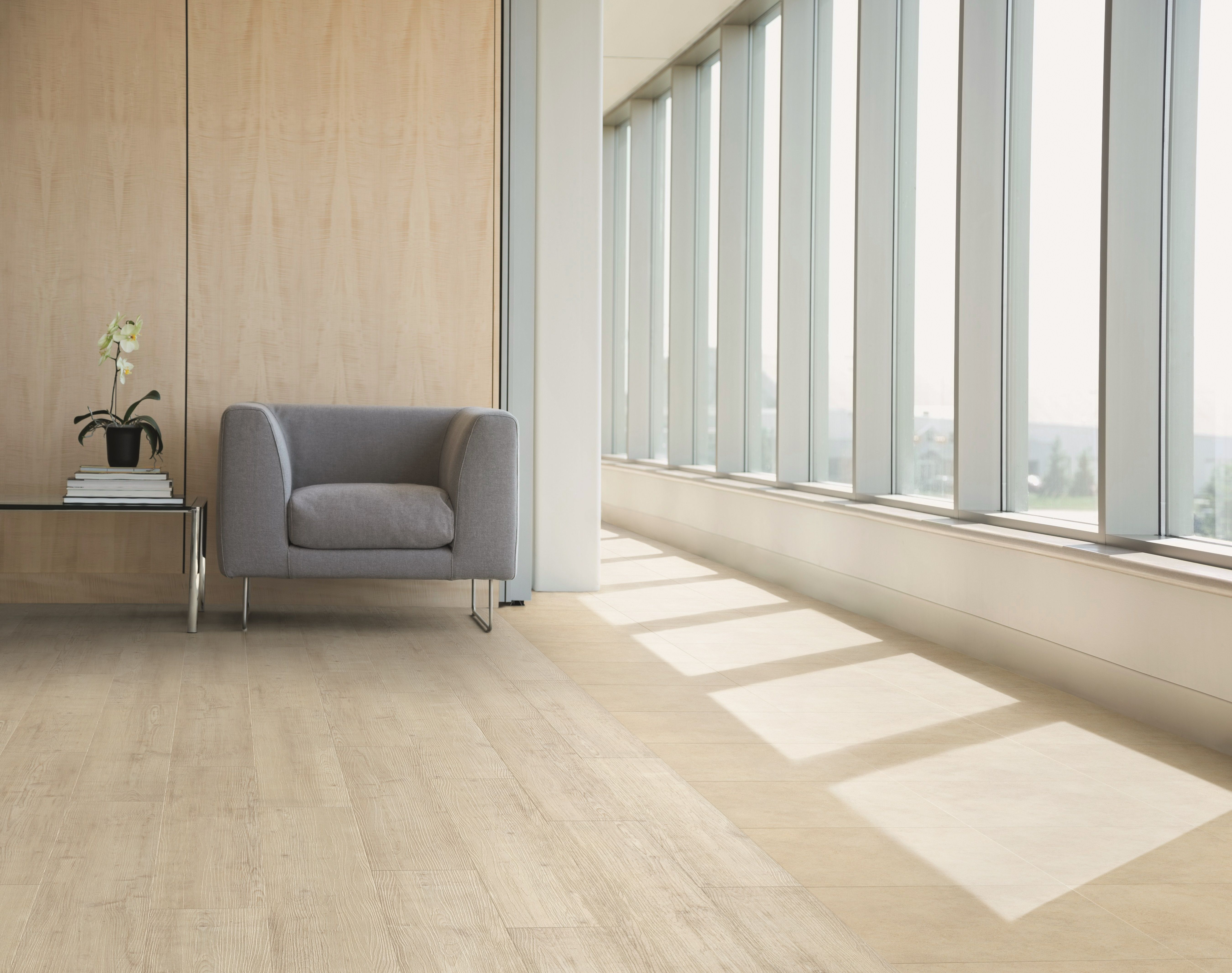 Fusion Flooring 1060 Royal White Oak light and spacious