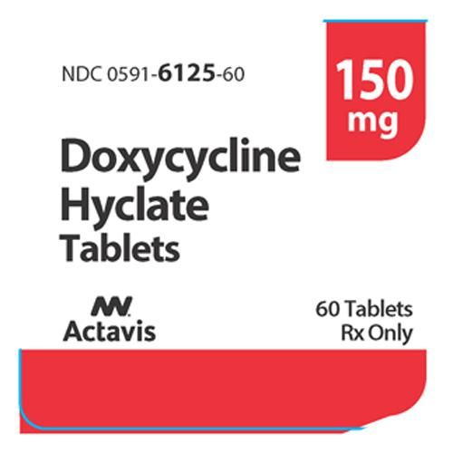 Doxycycline Hyclate 150 Mg Capsules By Watson Antibiotic Products