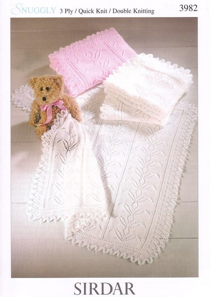 7e1268e5969c Sirdar Baby Shawls   Blankets Knitting Pattern 3982 3 Ply