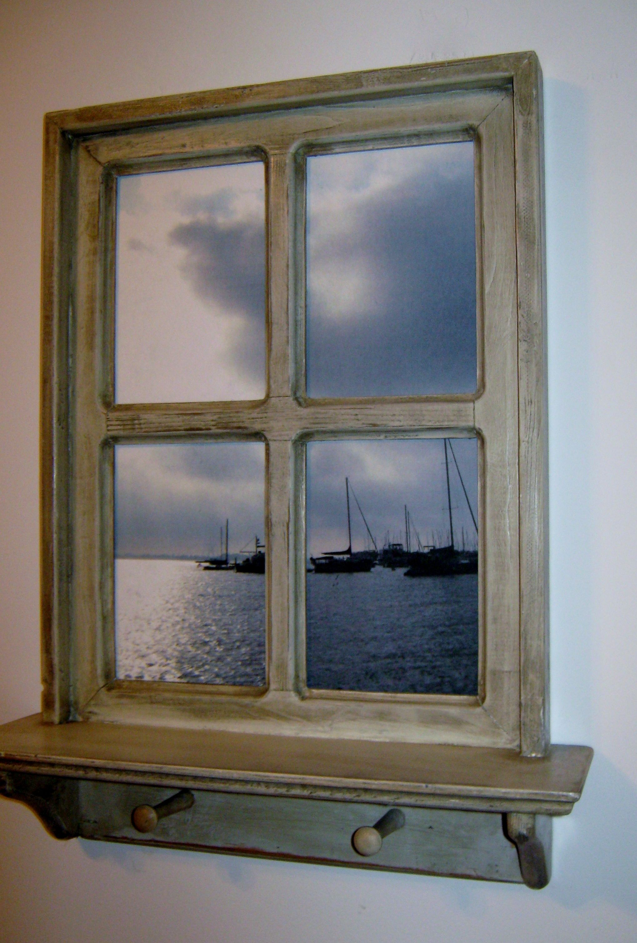 Faux Window Art : Shabby chic hand crafted faux window picture frame quot