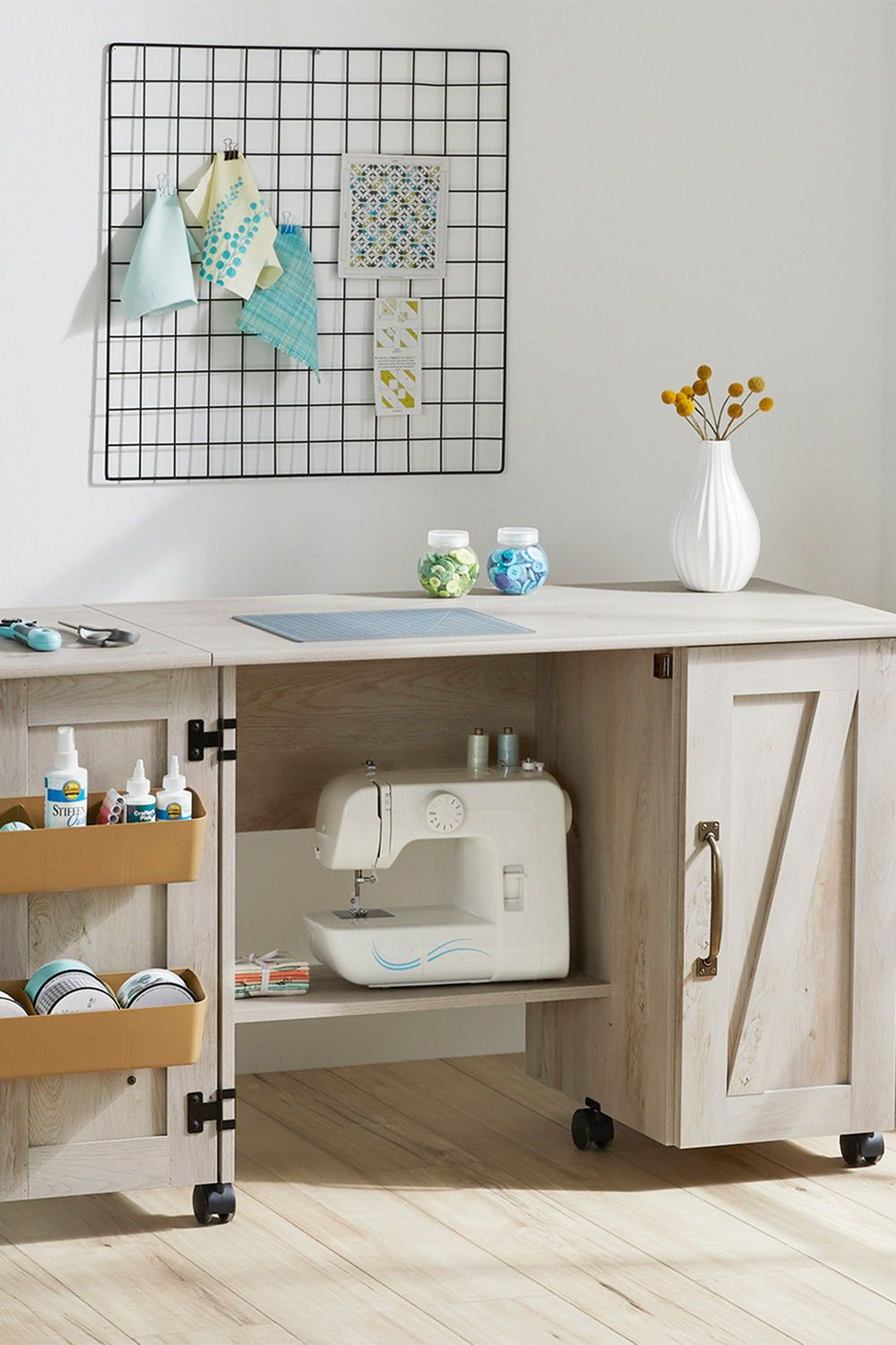 Better Homes & Gardens Modern Farmhouse Wood Sewing Table