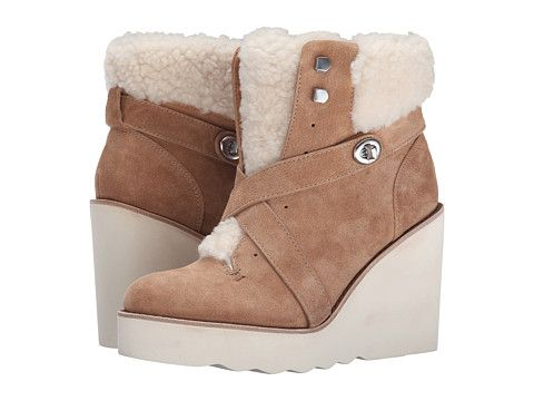 Womens Boots COACH Kenna Camel/Natural Shearling