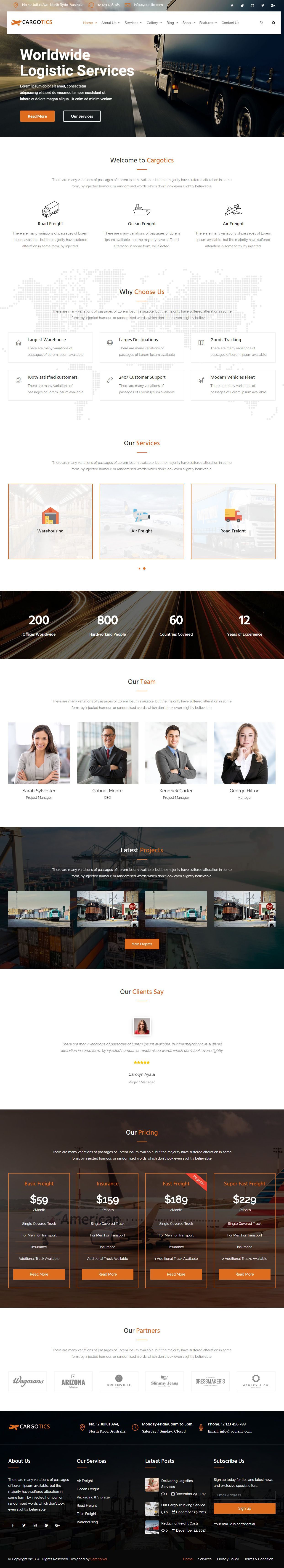 Cargotics is Premium full Responsive Retina WordPress Theme