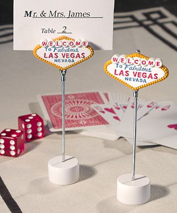 Las Vegas Themed Place Card Holders Party S Galore