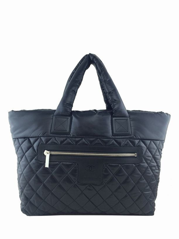 d8b15bffeaf Consigned Designs | Chanel Handbags| Black Coco Cocoon Quilted Nylon Large  Shopping Tote