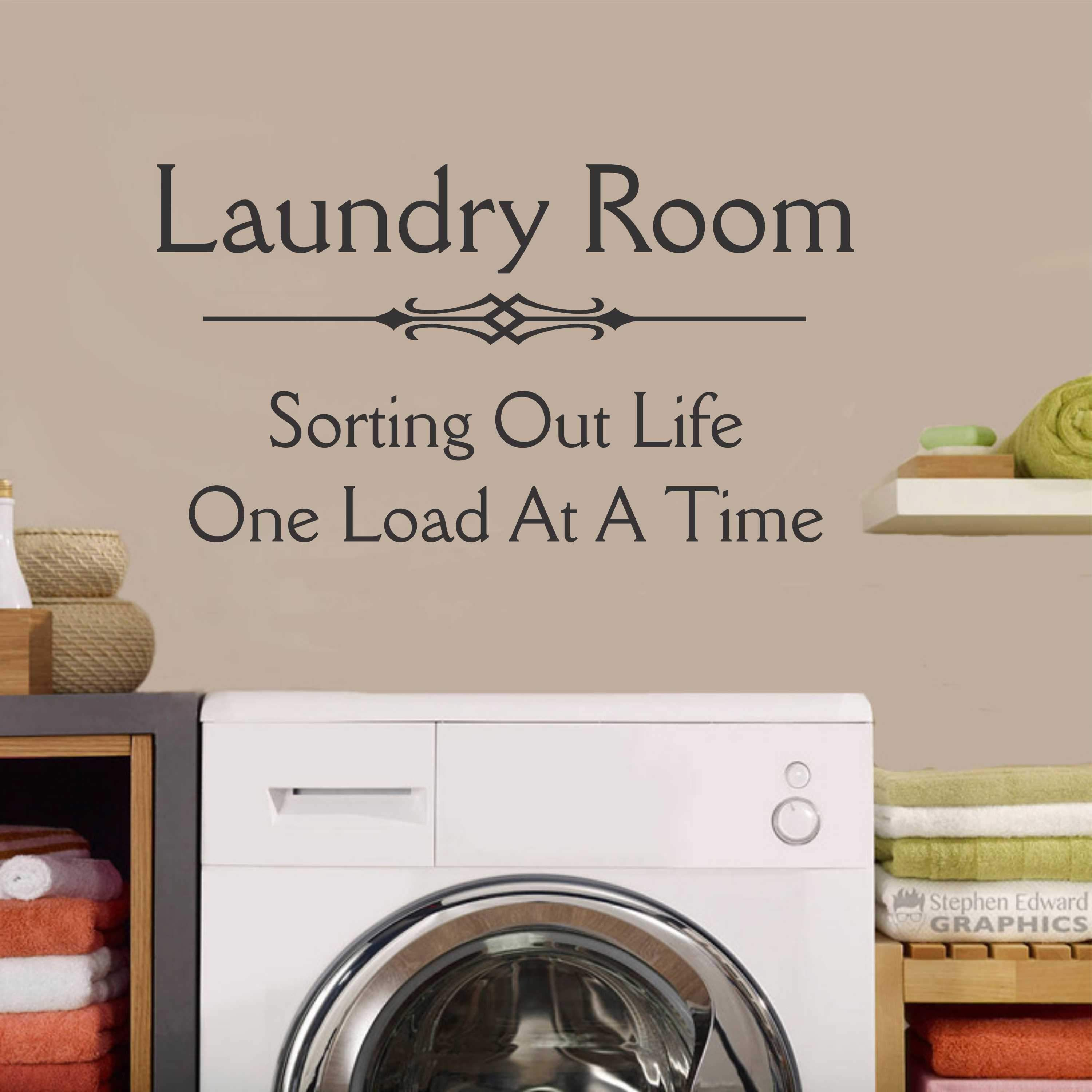 Laundry Room Wall Sayings Laundry Sorting Life Decal  Vinyl Lettering  Wall Quotes  Products