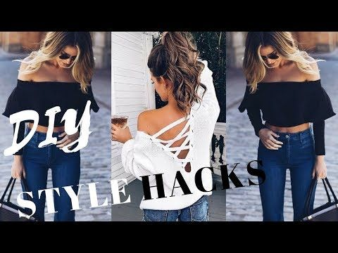 4a785f56b3e1 DIY Style Hacks To Switch Up Your Fashion Game - YouTube