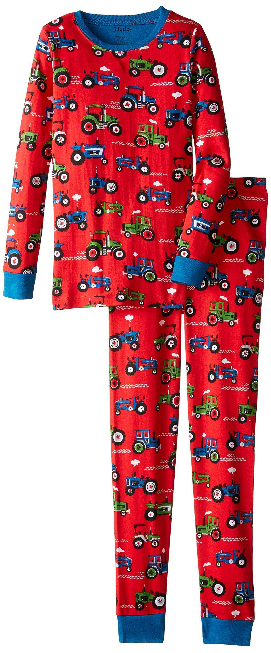 f2038ffc82 Hatley Boy s PJAFAJA010 Farm Tractors Pyjama Set