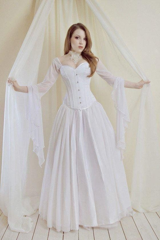 fb2bbf596a Free shipping!! Lovely Corset Set White wedding dress corset women's ...
