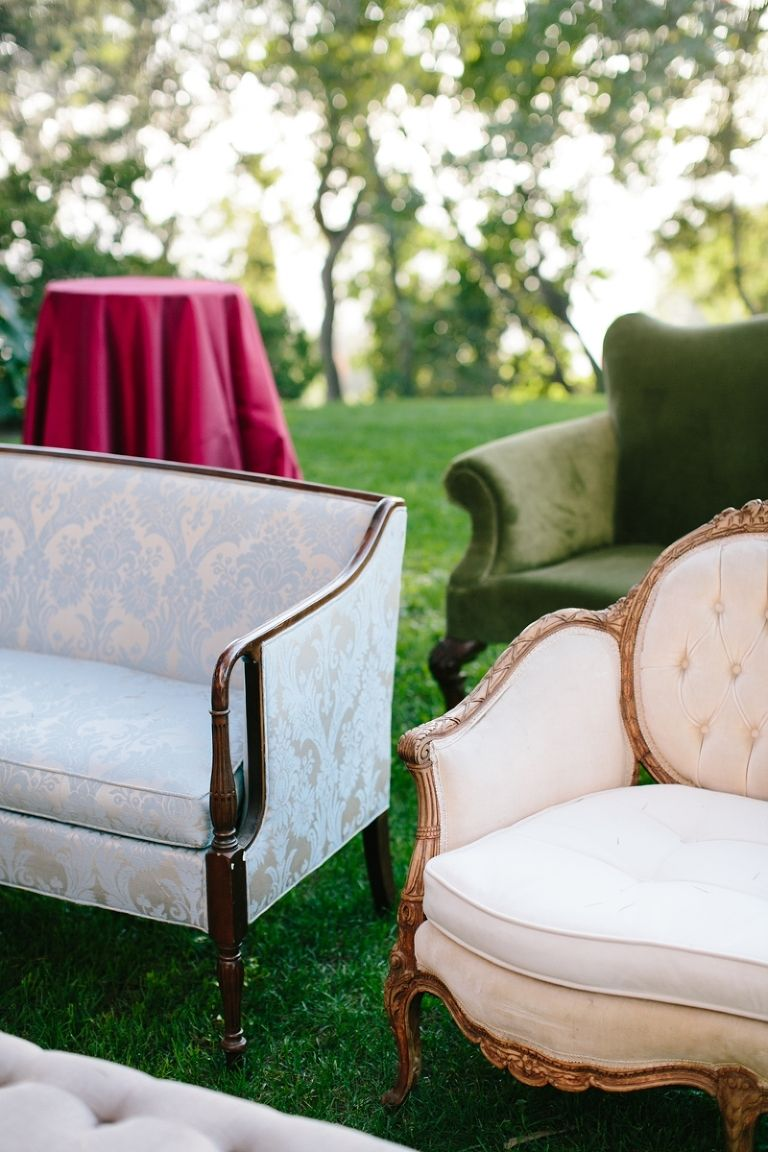 Vintage Sofas For Wedding Ceremony. Paramour Mansion