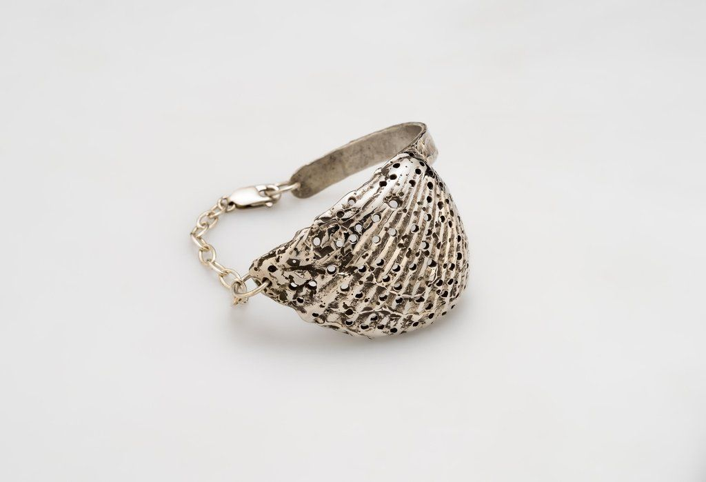 Fossil Shell Cuff Silver