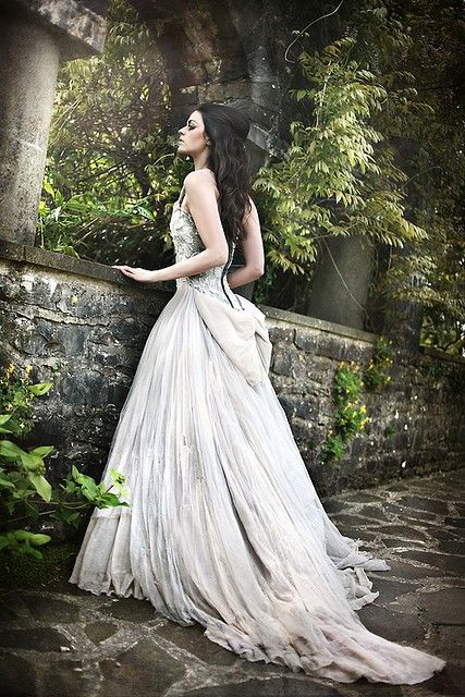 Character inspiration - fairytale, white dress, long dark ...