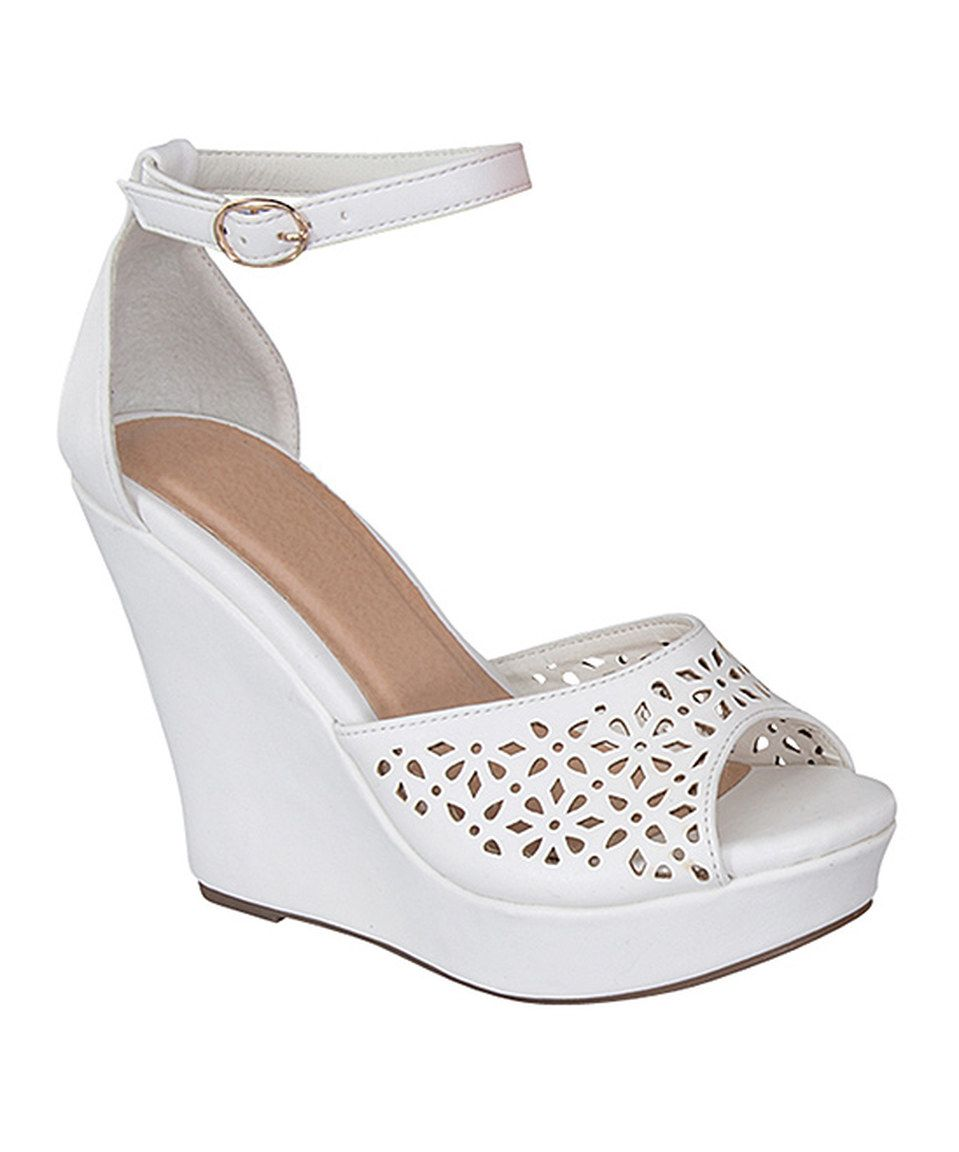 cffea4d83cb1 Love this TOP MODA White Berilina Wedge by TOP MODA on  zulily!  zulilyfinds