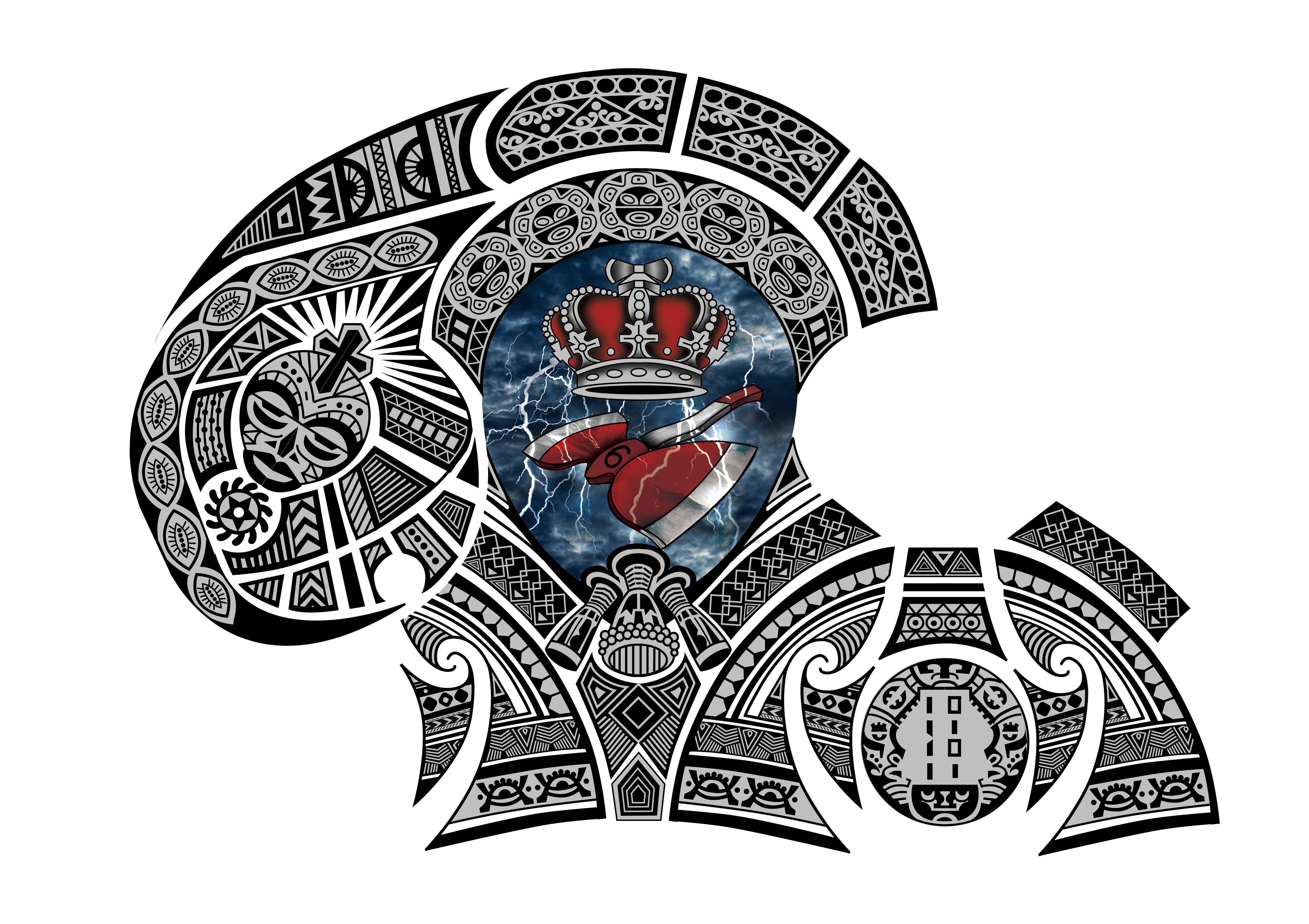 African Tribal Tattoo Half Sleeve: Polynesian West African Taino Indian Half Sleeve Chest