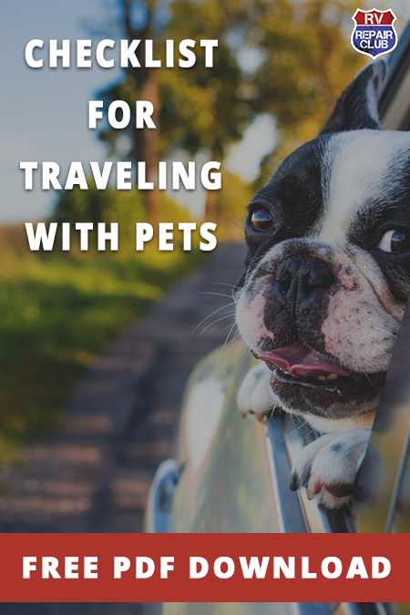 Rv Repair Club Traveling With Pets Checklist Rv Living