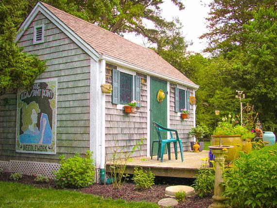 cape cod garden shed sandwich massachusetts new england travel art architecture