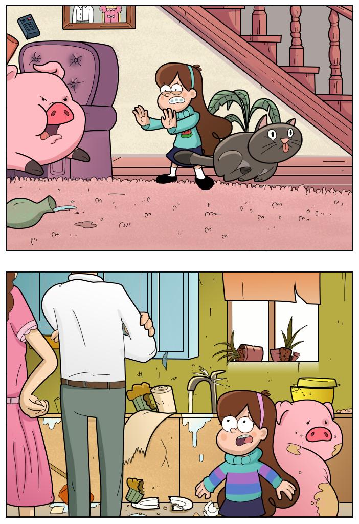 Картинки комиксы из гравити фолз