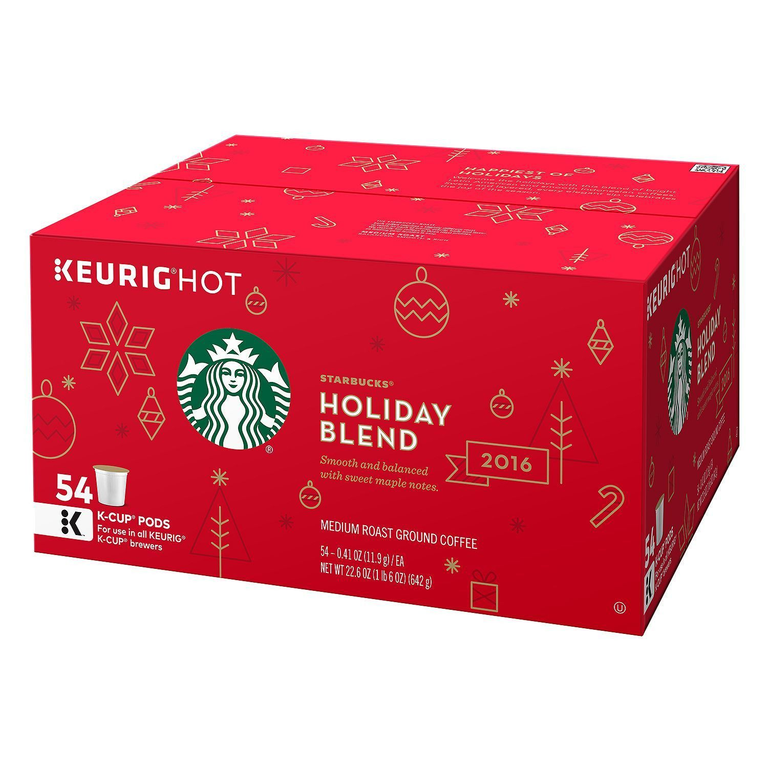 Starbucks Holiday 2016 Blend KCups 54 ct. It's finally