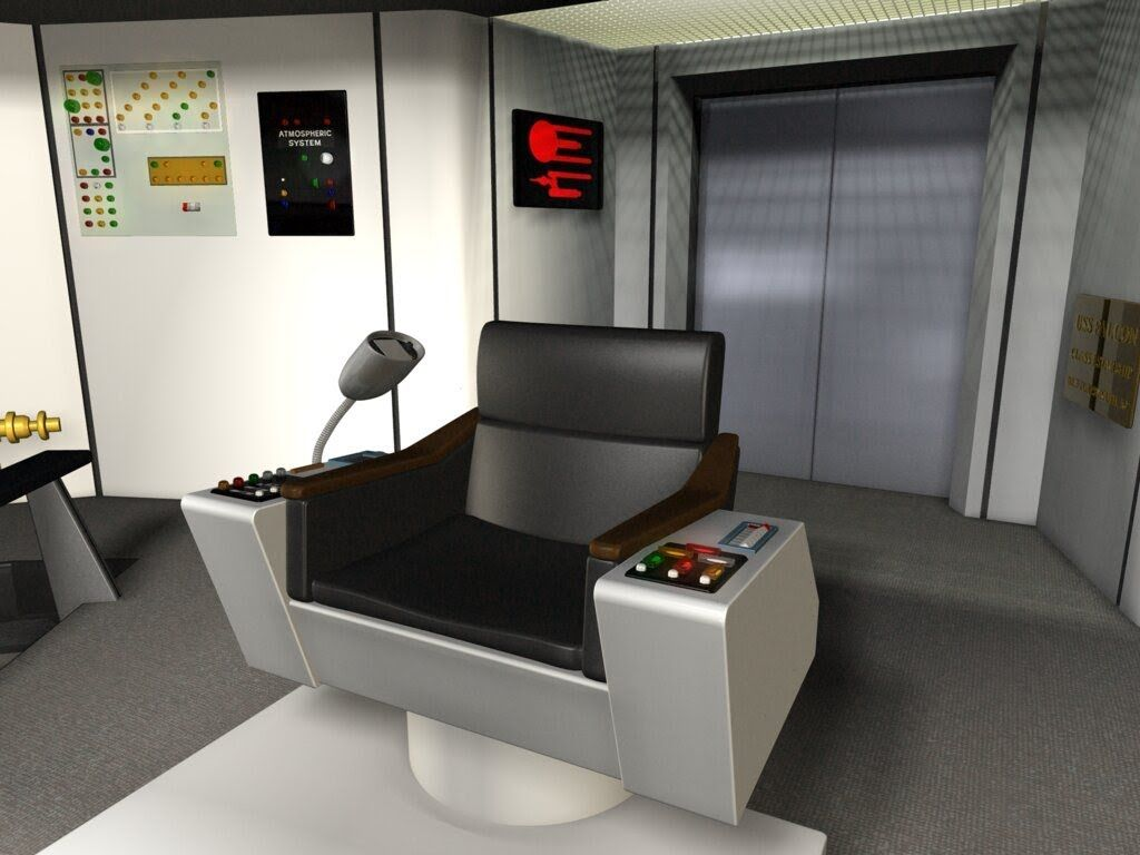 Captains chair star trek - Captain Kirk Chair Plans Google Search Star Trekspaceship