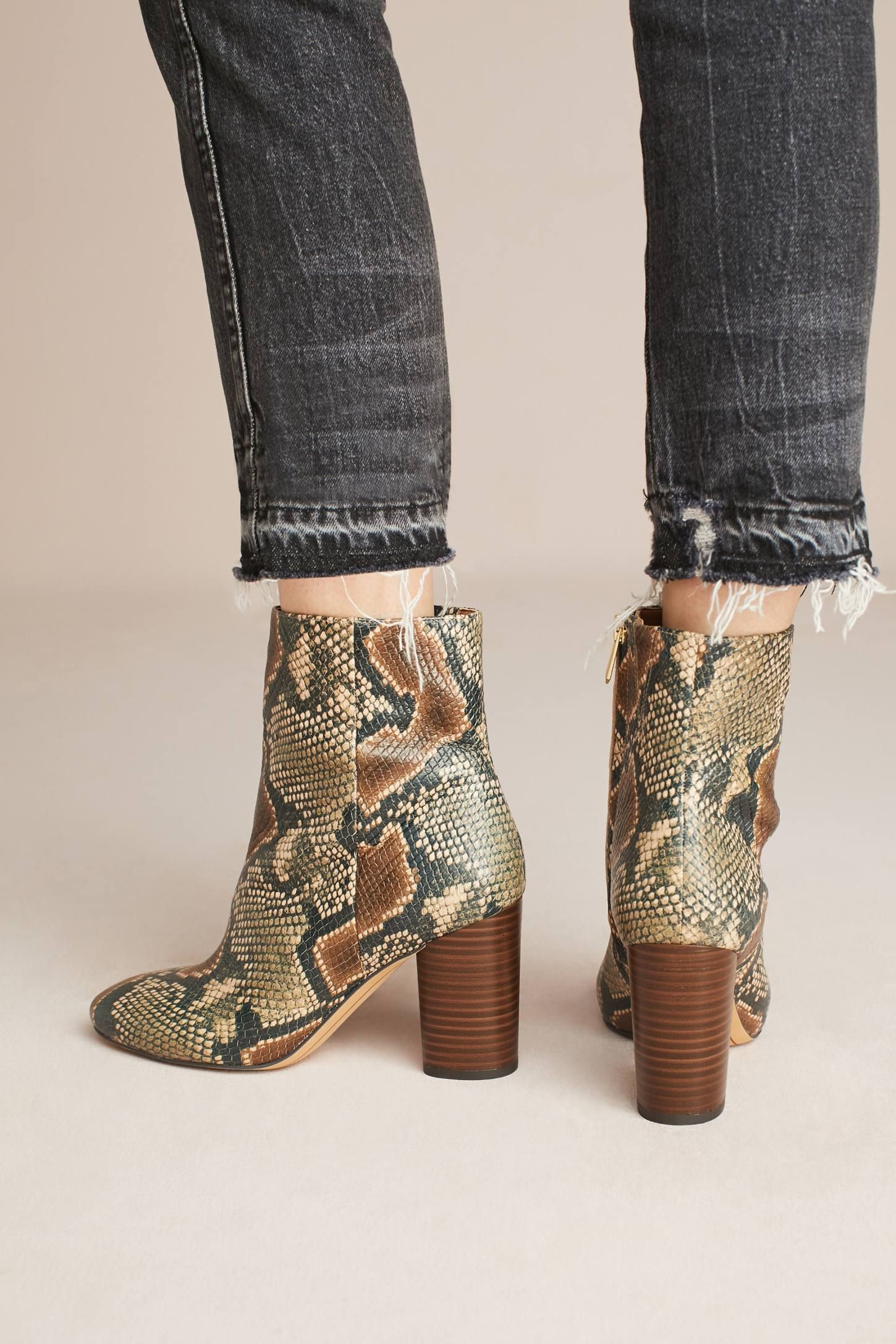 e773a0253 Slide View  4  Sam Edelman Corra Snake Ankle Boots
