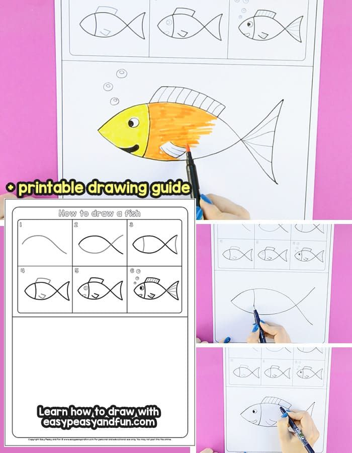 How to Draw a Fish Step by Step Tutorial for Kids ...