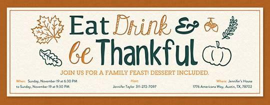 online thanksgiving invitations - Leon.escapers.co