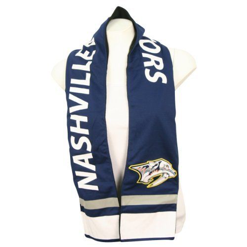 """Nashville Predators Jersey Style Scarf W/ Zipper Pocket (60"""" x 6"""") by Pro-Fan-ity. $4.98. Represent your team while staying warm with this jersey style scarf.. Save 67% Off!"""