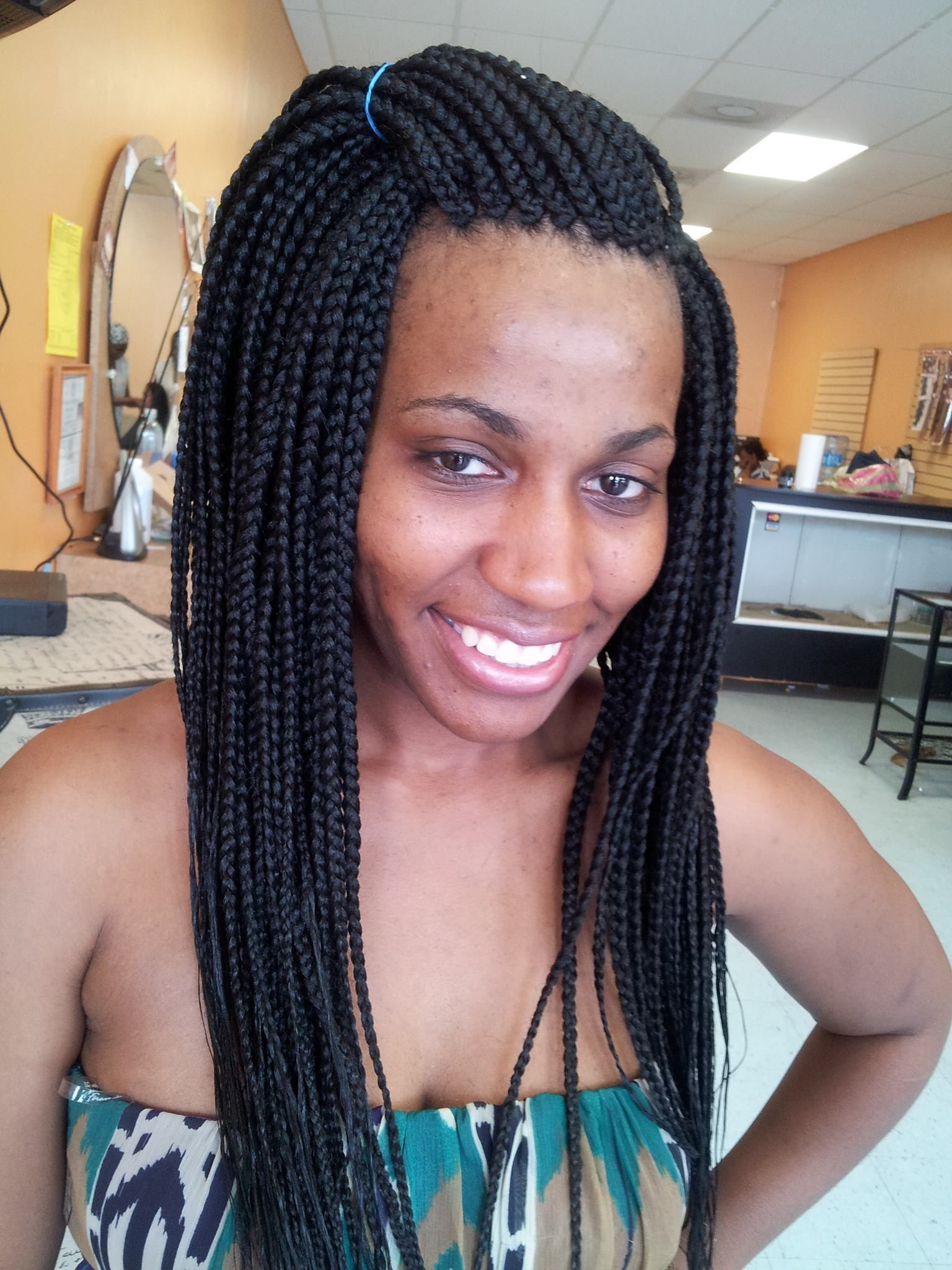 Pin By Zay African Hair Braiding On Long Single Braids African Braids Hairstyles African Braids Single Braids
