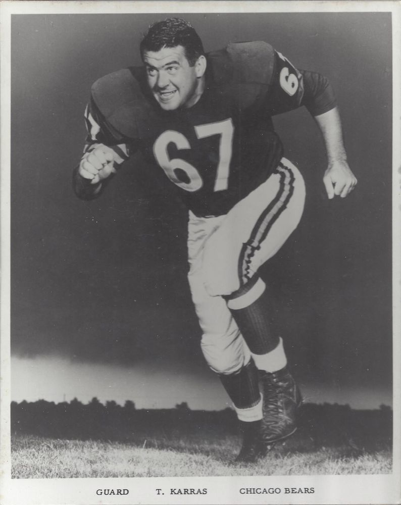 new product 2ecd0 ad3ea Vintage Ted Karras - #Chicago #Bears Press Photo - Former Iu ...