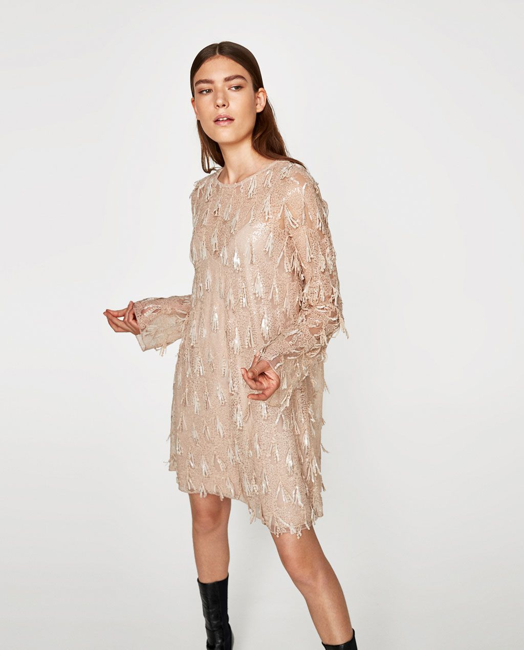 Image 2 of SEQUIN DRESS from Zara | Cute things | Pinterest